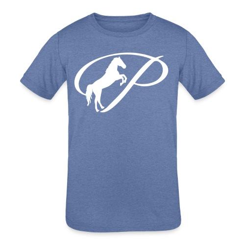 Womens Premium T-Shirt with large white logo - Kid's Tri-Blend T-Shirt