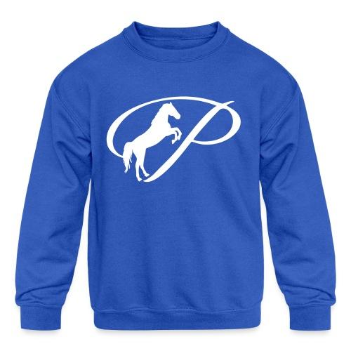 Womens Premium T-Shirt with large white logo - Kid's Crewneck Sweatshirt