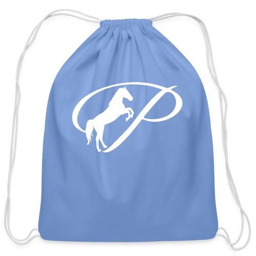 Womens Premium T-Shirt with large white logo - Cotton Drawstring Bag