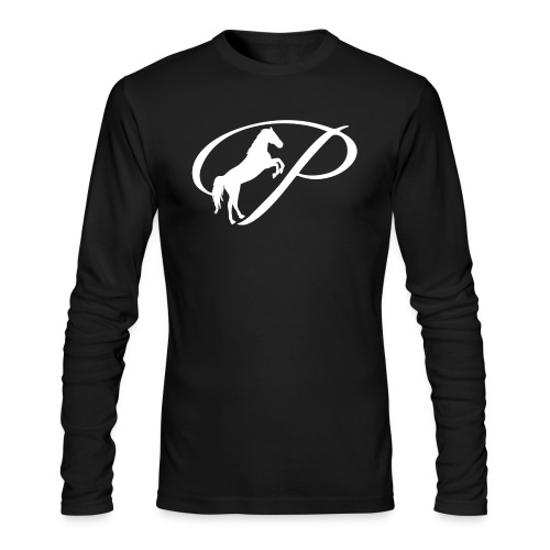 Womens Premium T-Shirt with large white logo - Men's Long Sleeve T-Shirt by Next Level