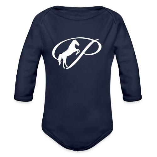 Womens Premium T-Shirt with large white logo - Organic Long Sleeve Baby Bodysuit