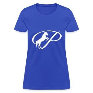 Womens Premium T-Shirt with large white logo - Women's T-Shirt