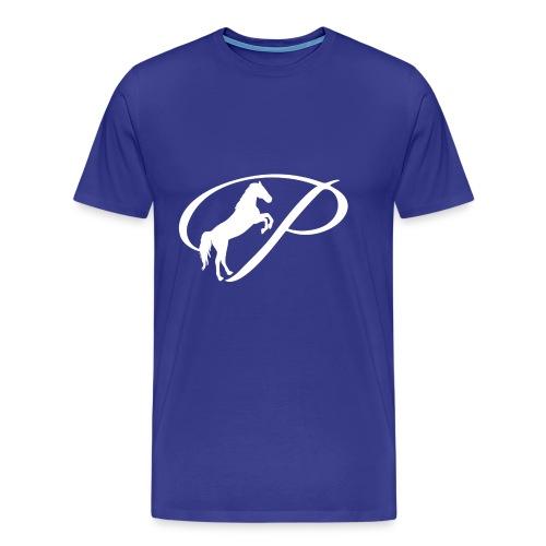 Womens Premium T-Shirt with large white logo - Men's Premium T-Shirt