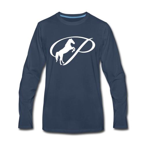 Womens Premium T-Shirt with large white logo - Men's Premium Long Sleeve T-Shirt