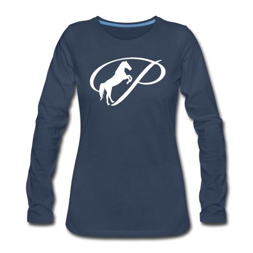 Womens Premium T-Shirt with large white logo - Women's Premium Long Sleeve T-Shirt