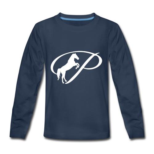 Womens Premium T-Shirt with large white logo - Kids' Premium Long Sleeve T-Shirt