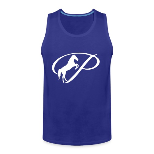 Womens Premium T-Shirt with large white logo - Men's Premium Tank