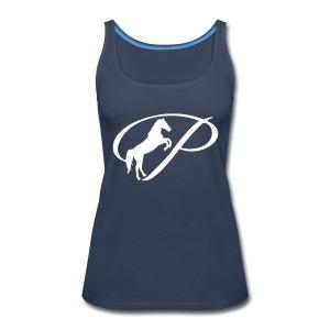 Womens Premium T-Shirt with large white logo - Women's Premium Tank Top