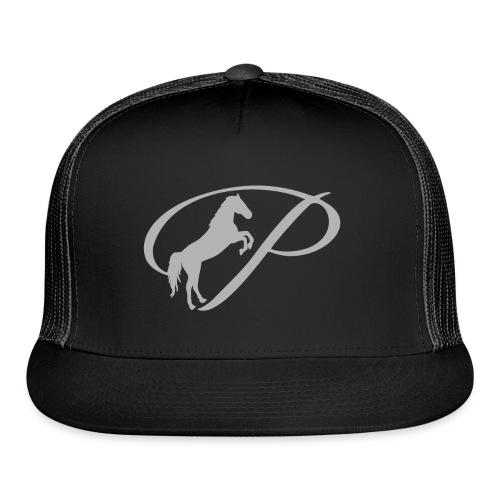 Womens T-shirt with large light grey logo - Trucker Cap