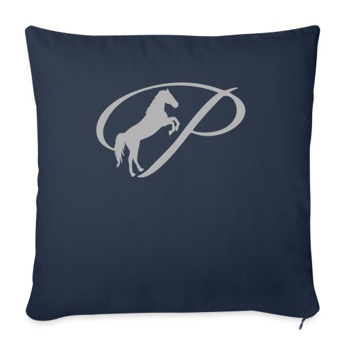 """Womens T-shirt with large light grey logo - Throw Pillow Cover 18"""" x 18"""""""