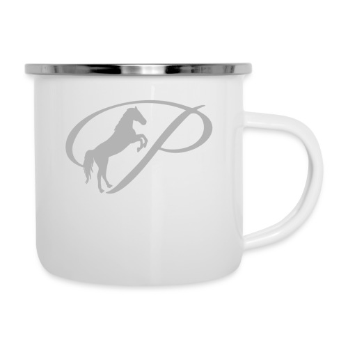 Womens T-shirt with large light grey logo - Camper Mug