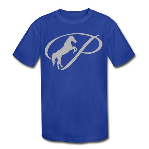 Womens T-shirt with large light grey logo - Kids' Moisture Wicking Performance T-Shirt
