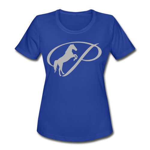 Womens T-shirt with large light grey logo - Women's Moisture Wicking Performance T-Shirt