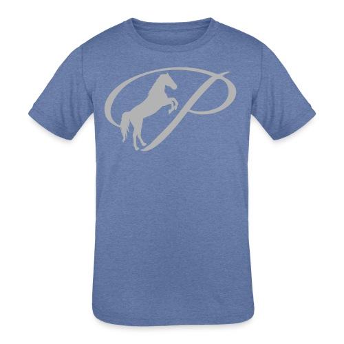Womens T-shirt with large light grey logo - Kid's Tri-Blend T-Shirt