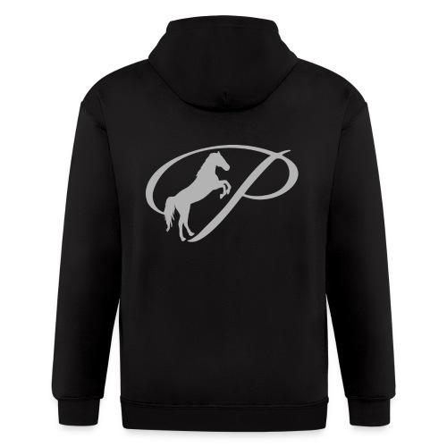 Womens T-shirt with large light grey logo - Men's Zip Hoodie
