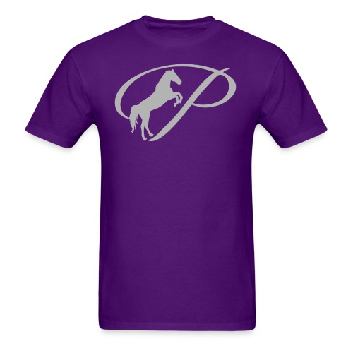 Womens T-shirt with large light grey logo - Men's T-Shirt