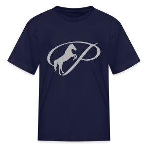 Womens T-shirt with large light grey logo - Kids' T-Shirt