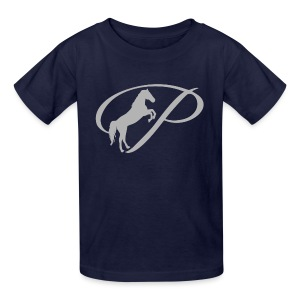 Womens T-shirt with large light grey logo - Kids' T-Shirt
