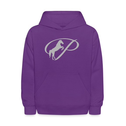 Womens T-shirt with large light grey logo - Kids' Hoodie