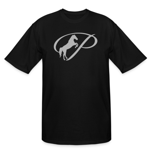 Womens T-shirt with large light grey logo - Men's Tall T-Shirt