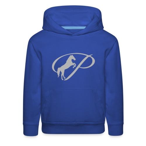 Womens T-shirt with large light grey logo - Kids' Premium Hoodie