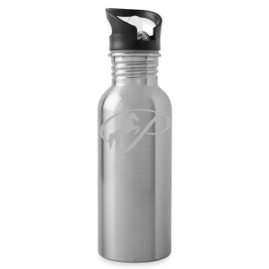 Womens T-shirt with large light grey logo - Water Bottle