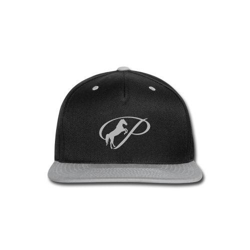 Womens T-shirt with large light grey logo - Snap-back Baseball Cap