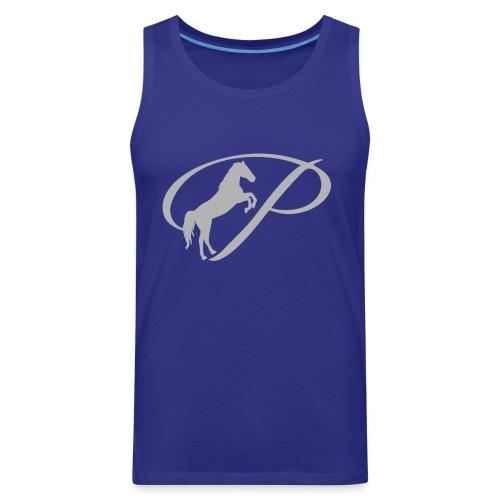 Womens T-shirt with large light grey logo - Men's Premium Tank