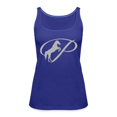 Womens T-shirt with large light grey logo - Women's Premium Tank Top