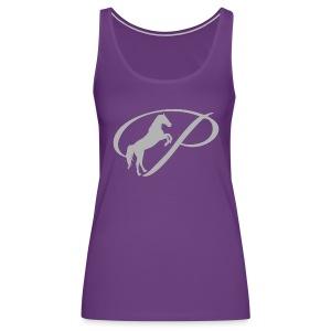 Womens T-shirt with large light grey logo - Women's Premium Tank Top