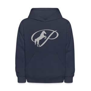 Mens T-Shirt with large light grey logo - Kids' Hoodie