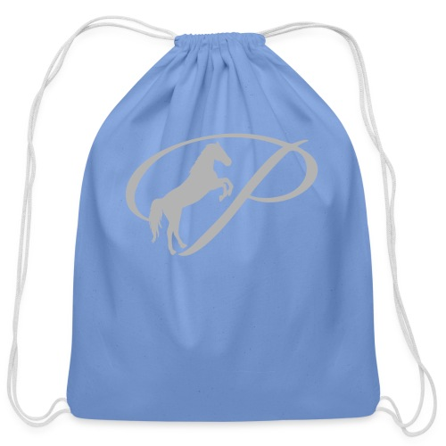 Kids T-Shirt with large light grey logo - Cotton Drawstring Bag