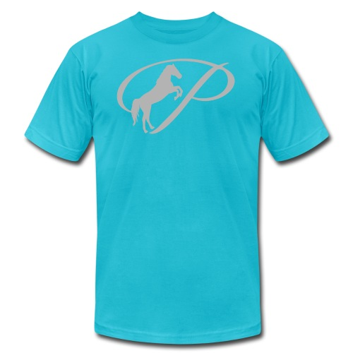 Kids T-Shirt with large light grey logo - Men's  Jersey T-Shirt