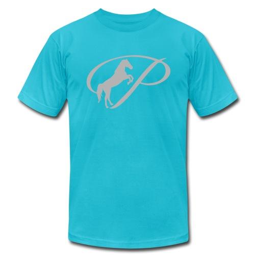 Kids T-Shirt with large light grey logo - Men's Fine Jersey T-Shirt