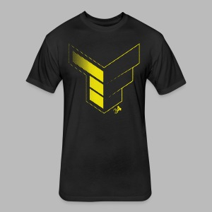 Tanner Foust Halftone Tee - Fitted Cotton/Poly T-Shirt by Next Level