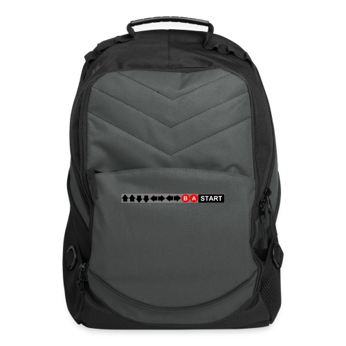Contra Code Fitted Cotton/Poly T-Shirt by Next Level - Computer Backpack
