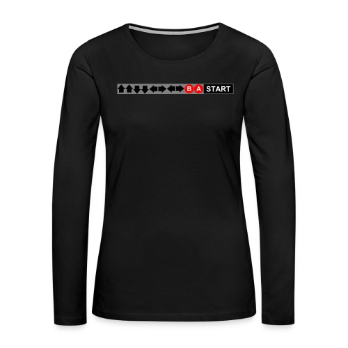 Contra Code Fitted Cotton/Poly T-Shirt by Next Level - Women's Premium Long Sleeve T-Shirt