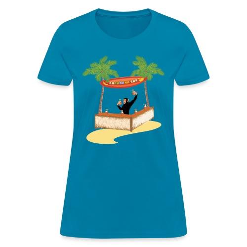 Monkey at a beach bar - Women's T-Shirt