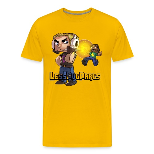 Shotgun Less Black Text - Men's Premium T-Shirt