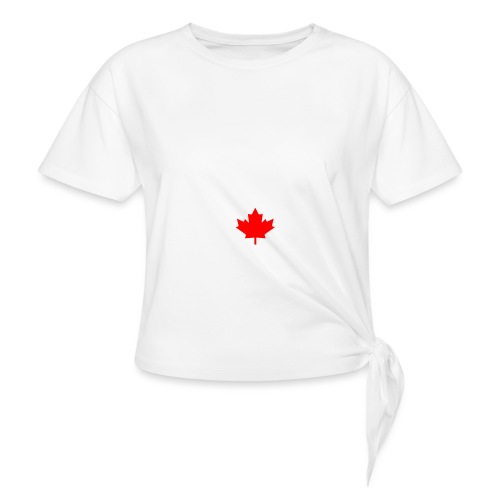 GALAXY S7 - CANADA LEAF - Women's Knotted T-Shirt