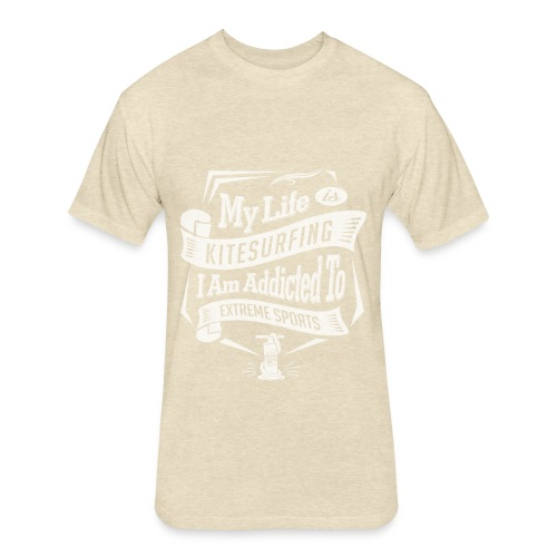 My Life is Kitesurfing - Fitted Cotton/Poly T-Shirt by Next Level