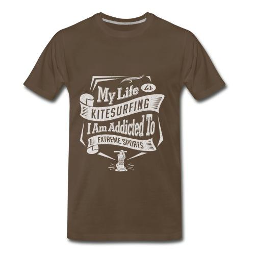 My Life is Kitesurfing - Men's Premium T-Shirt