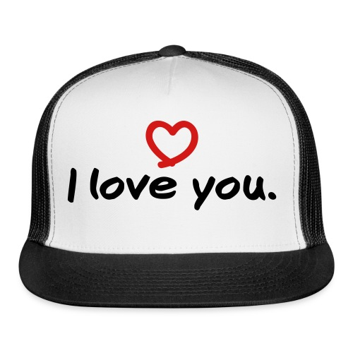 i love you button - Trucker Cap