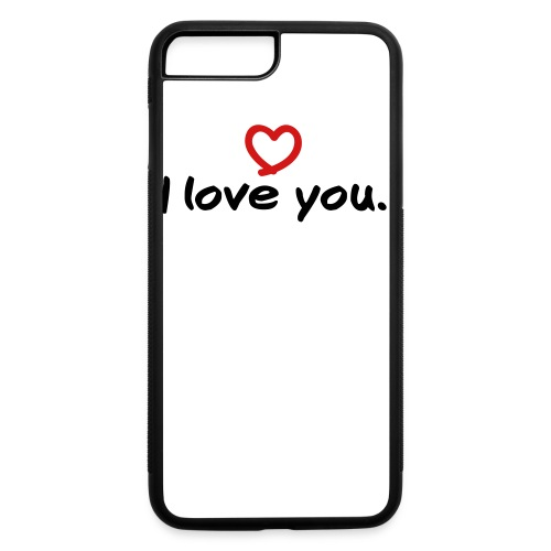 i love you button - iPhone 7 Plus/8 Plus Rubber Case