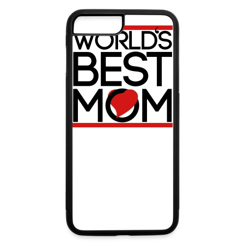 world best mom button - iPhone 7 Plus/8 Plus Rubber Case