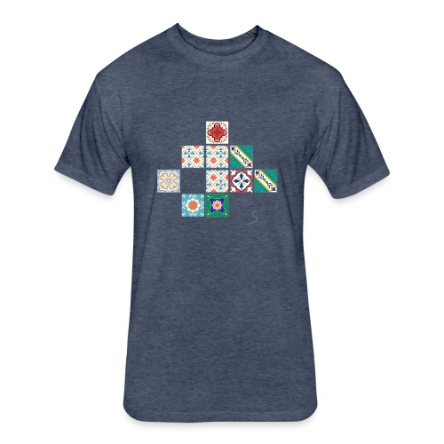 Tile desorder - Fitted Cotton/Poly T-Shirt by Next Level