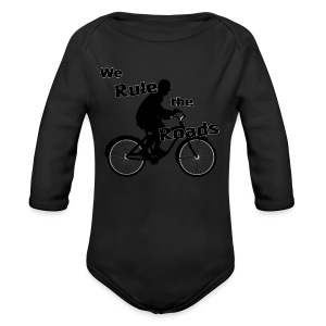 We Rule the Roads (Cyclist) - Long Sleeve Baby Bodysuit
