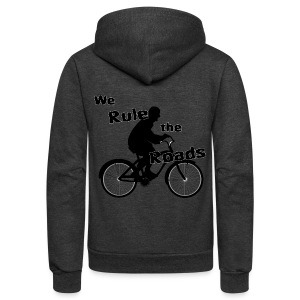 We Rule the Roads (Cyclist) - Unisex Fleece Zip Hoodie