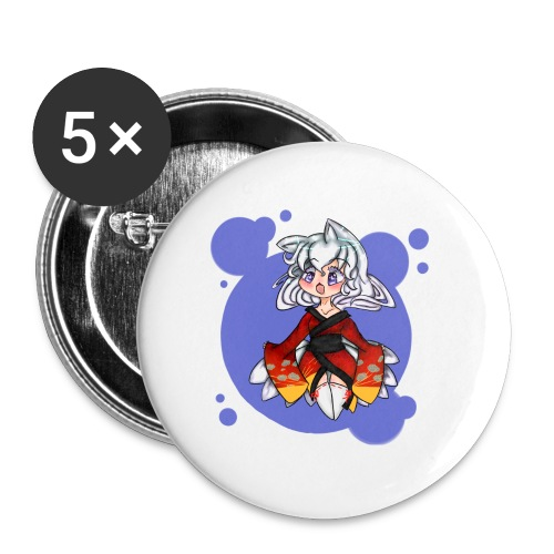 Kitsune male t-shirt - Buttons large 2.2'' (5-pack)
