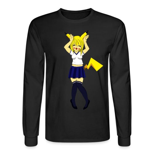 Pika Girl Female T-Shirt - Men's Long Sleeve T-Shirt